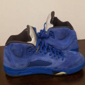 Nike Shoes - Air Jordan V 5 Retro Blue Suede Sz 13